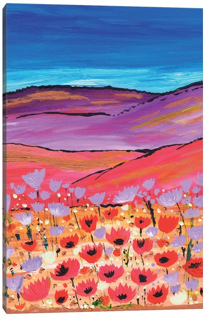 Poppy Fields Canvas Art Print