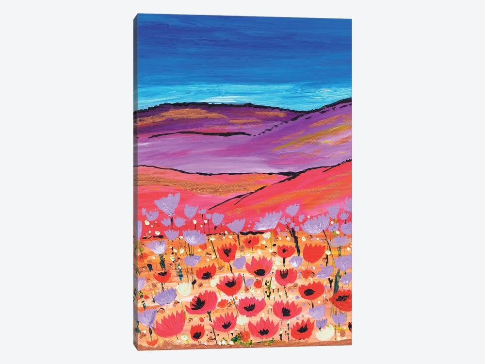 Poppy Fields by Caroline Duncan ART 1-piece Canvas Wall Art