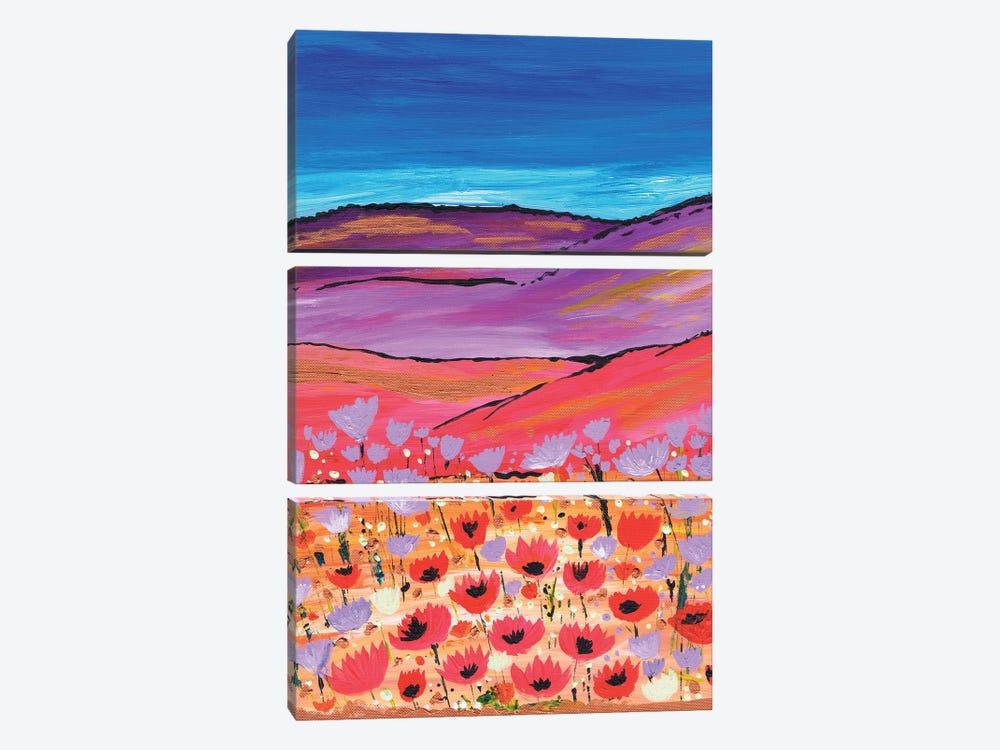 Poppy Fields by Caroline Duncan ART 3-piece Canvas Artwork