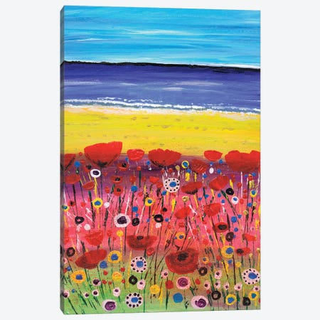 Remembrance Poppies 3-Piece Canvas #CDU36} by Caroline Duncan ART Canvas Print