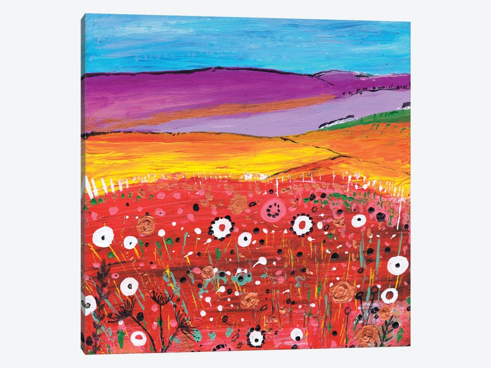 Springtime Flowers by Caroline Duncan ART 1-piece Canvas Artwork