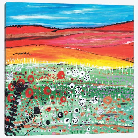 Strawberry Fields Canvas Print #CDU43} by Caroline Duncan ART Canvas Art Print