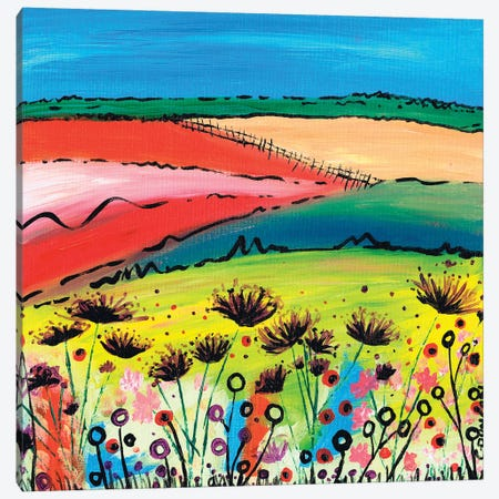 The Allium Fields 3-Piece Canvas #CDU44} by Caroline Duncan ART Canvas Artwork