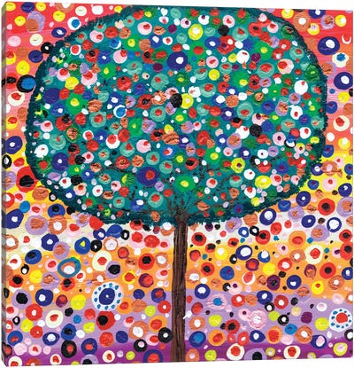The Colour Tree Canvas Art Print