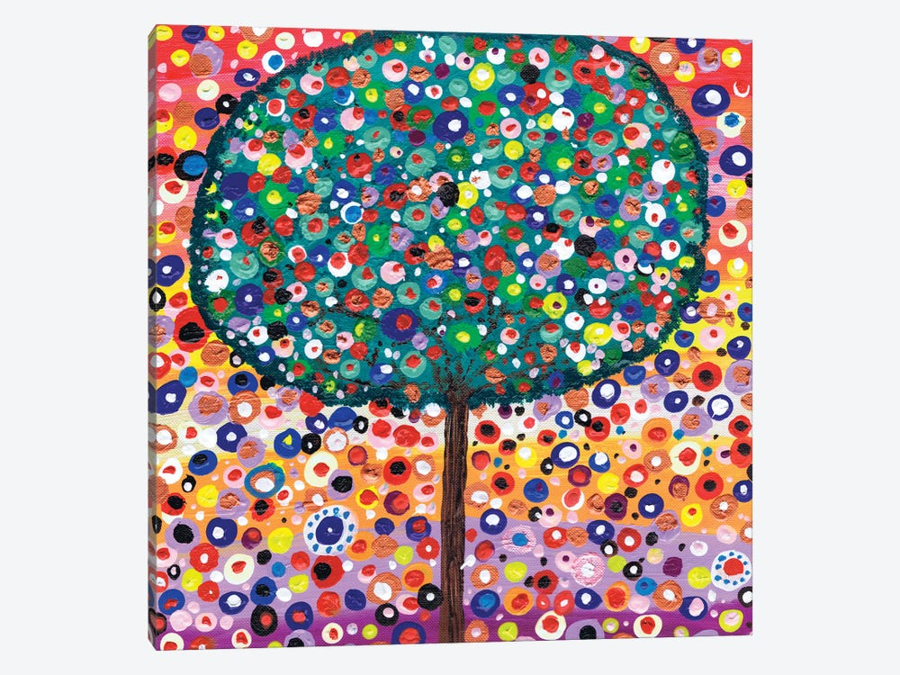 The Colour Tree by Caroline Duncan ART 1-piece Canvas Art Print