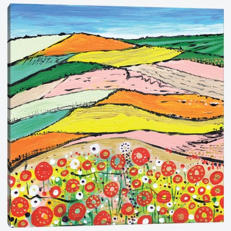 The Colours Of Spring Canvas Print #CDU46} by Caroline Duncan ART Canvas Wall Art