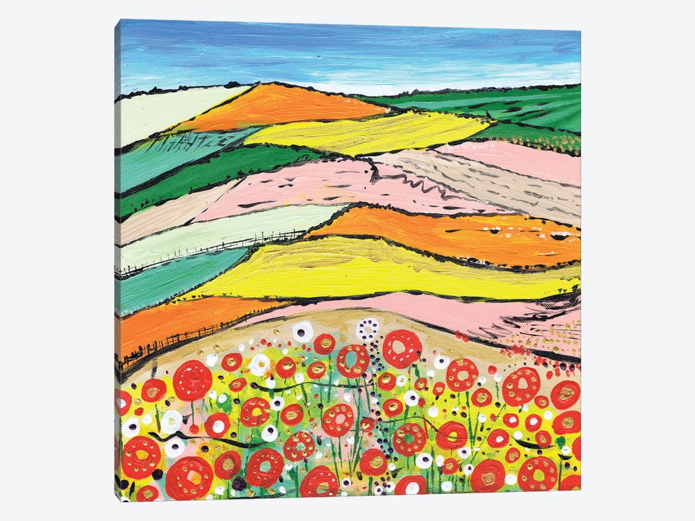 The Colours Of Spring by Caroline Duncan ART 1-piece Canvas Art