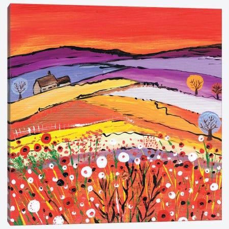 The Cottage On The Hill Canvas Print #CDU47} by Caroline Duncan ART Canvas Art