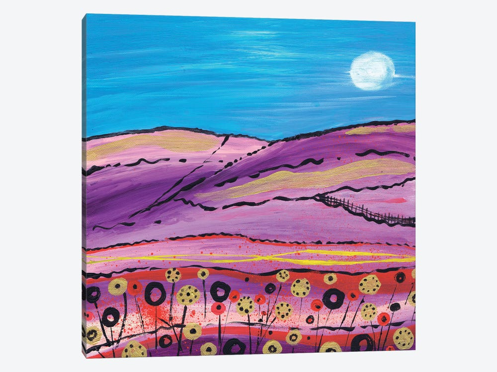 The Lavender Fields by Caroline Duncan ART 1-piece Canvas Print