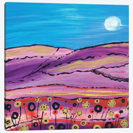 The Lavender Fields Canvas Print #CDU49} by Caroline Duncan ART Canvas Art Print