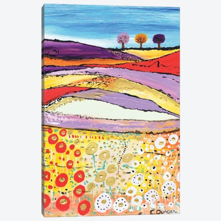 The Three Trees Canvas Print #CDU51} by Caroline Duncan ART Canvas Artwork