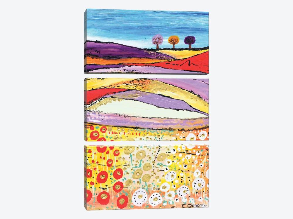 The Three Trees by Caroline Duncan ART 3-piece Canvas Wall Art