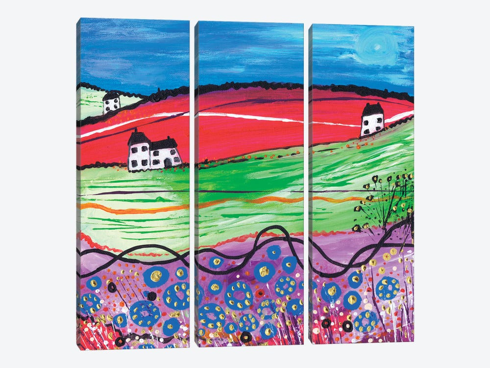 The Village by Caroline Duncan ART 3-piece Art Print