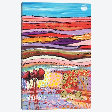 Tulips In A Field I Canvas Print #CDU55} by Caroline Duncan ART Canvas Print