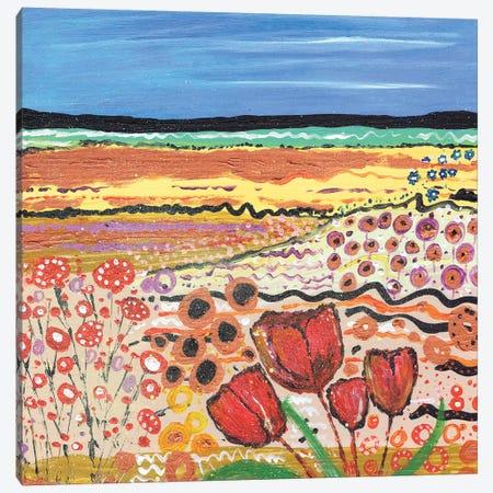 Tulips In A Field II Canvas Print #CDU56} by Caroline Duncan ART Canvas Print
