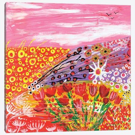 Tulips In Spring 3-Piece Canvas #CDU57} by Caroline Duncan ART Art Print