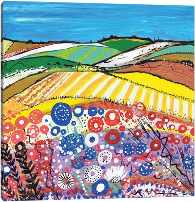 Wheatfields In Scotland Canvas Art Print
