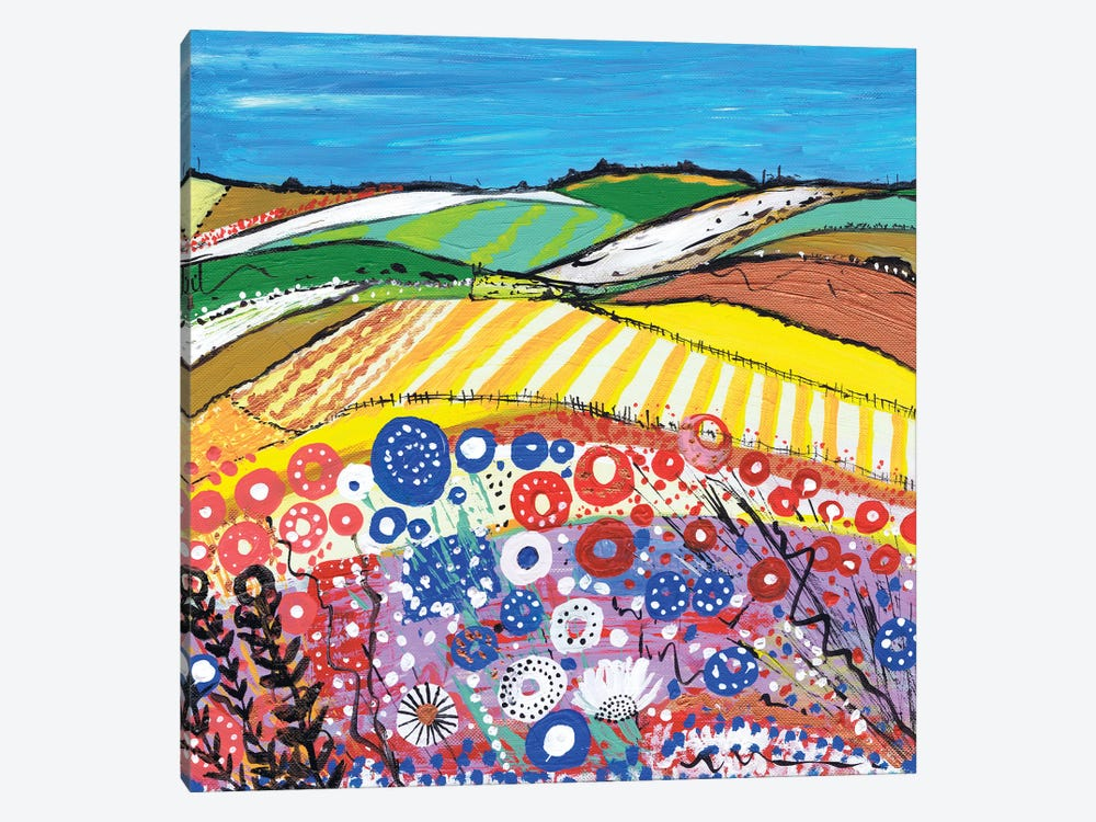 Wheatfields In Scotland by Caroline Duncan ART 1-piece Canvas Art Print