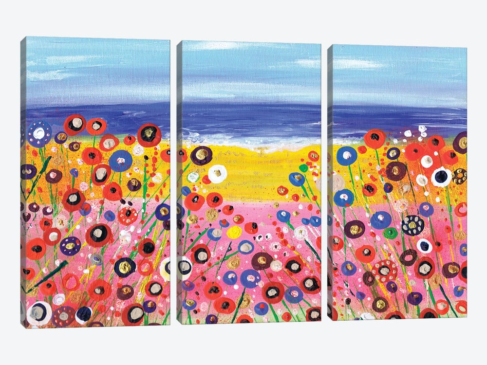 A Summers Day by Caroline Duncan ART 3-piece Canvas Art