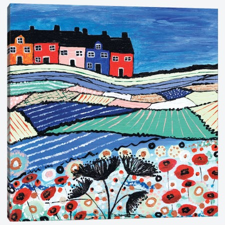 Balamory In Bloom Canvas Print #CDU9} by Caroline Duncan ART Art Print
