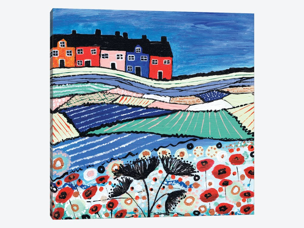 Balamory In Bloom by Caroline Duncan ART 1-piece Canvas Artwork