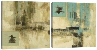 New Cities Diptych I Canvas Art Print