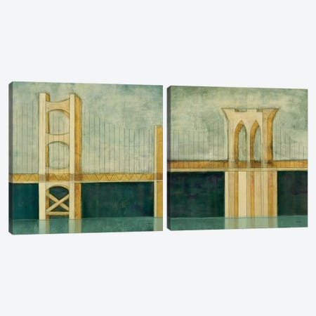 Bridge Diptych Canvas Print Set #CED2HSET003} by Cape Edwin Canvas Art