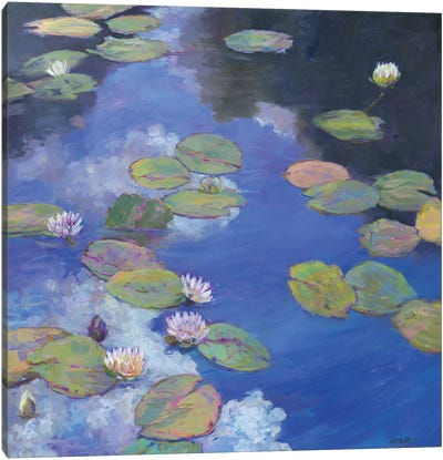 Lillypad Luxury I Canvas Art Print
