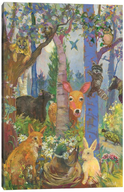 Animals Of The Forest Canvas Art Print