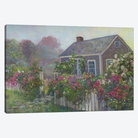 Misty Cottage Canvas Print #CEI35} by Catherine M. Elliott Canvas Artwork