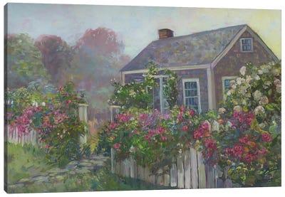 Misty Cottage Canvas Art Print