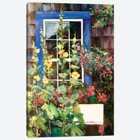 Blue Door Canvas Print #CEI4} by Catherine M. Elliott Canvas Artwork