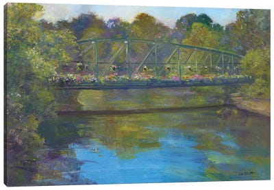 Flower Bridge Canvas Art Print
