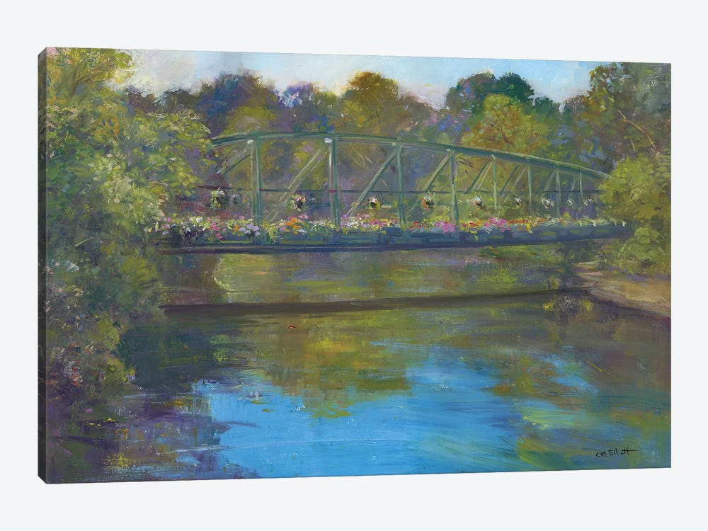 Flower Bridge by Catherine M. Elliott 1-piece Art Print