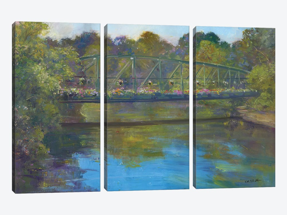 Flower Bridge by Catherine M. Elliott 3-piece Art Print