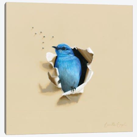 Blue Blood Canvas Print #CEN11} by Camille Engel Canvas Artwork