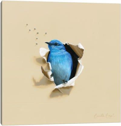 Blue Blood Canvas Art Print