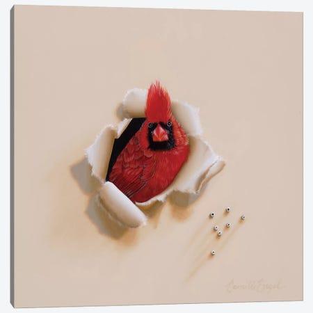 Flame Head Canvas Print #CEN23} by Camille Engel Art Print