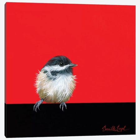 Sweet Little Chickadee Canvas Print #CEN56} by Camille Engel Canvas Art Print