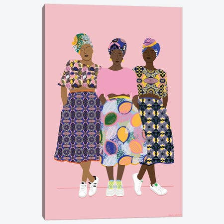 Girlz Band Canvas Print #CEW11} by Céleste Wallaert Canvas Print