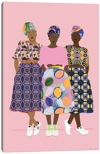 Girlz Band Canvas Art Print