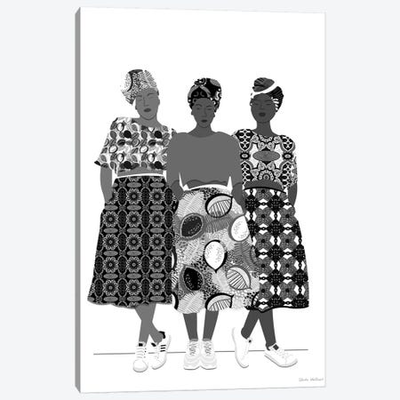 Girlz Band N&B Canvas Print #CEW12} by Céleste Wallaert Canvas Art Print