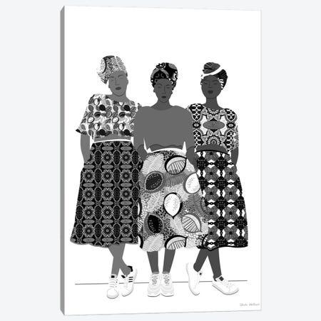 Girlz Band N&B Canvas Print #CEW12} by Céleste Wallaert Canvas Art Print