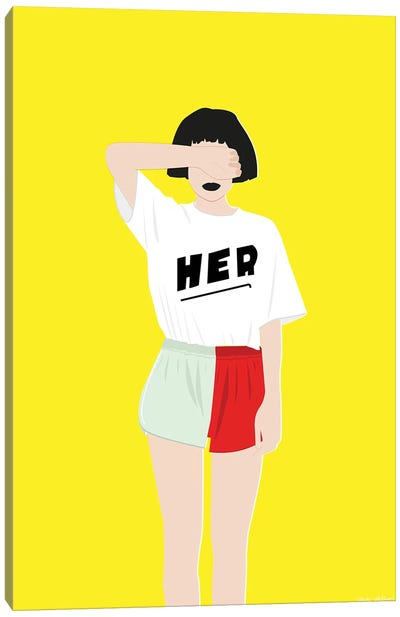 Her Yellow Canvas Art Print