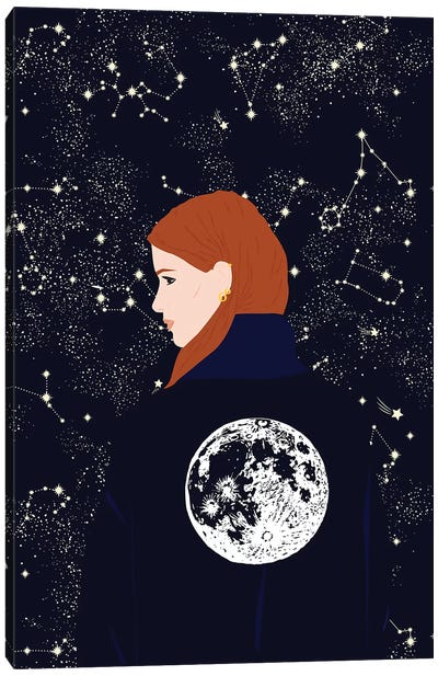 Moon Girl Canvas Art Print