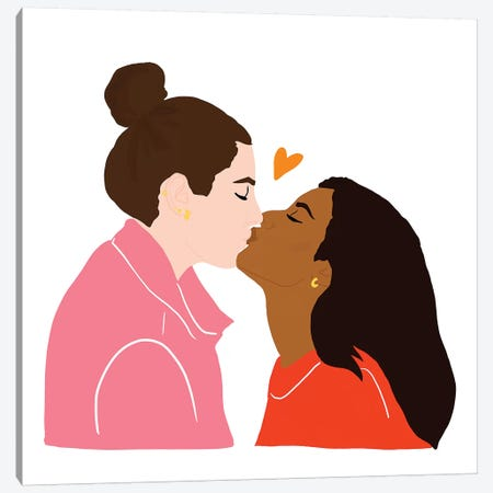 Love is All II Canvas Print #CEW26} by Céleste Wallaert Canvas Art Print