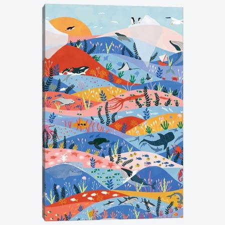 Oceans Canvas Print #CEY14} by Ceyda Alasar Canvas Art