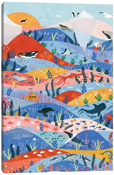 Oceans Canvas Art Print