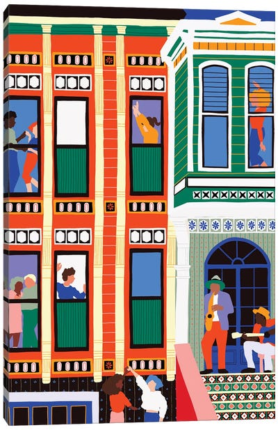 House Of Jazz Canvas Art Print