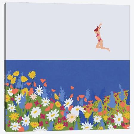 Wild Flowers Canvas Print #CEY21} by Ceyda Alasar Canvas Art